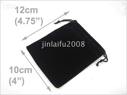 WHOLESALE LOT OF 300 BLACK VELVET JEWELLERY POUCHES BAG