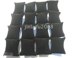 BLACK VELVET PILLOW JEWELLERY DISPLAY NECKLACE BRACELET