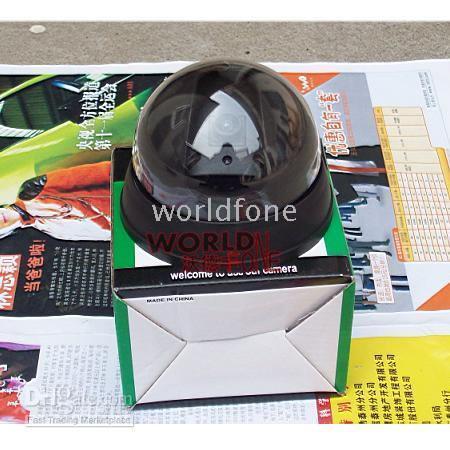 Wholesale Simulation Camera Dome Dummy Security Wireless Camera Fake Camera with LED Flashing Light WF SC13