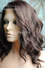 "XCsunny New Gorgeous 14""-26"" Heat Friendly Lace Front #4 Sexy Wave Hair Wigs Free Shipping"
