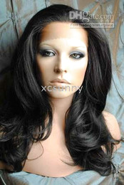 "New Gorgeous 14""-26"" Heat Friendly Lace Front #1B Natural Black Body Wave Hair Wigs"