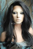 Wholesale New Gorgeous quot quot Heat Friendly Synthetic B Natural Black Lace Front Body Wave Hair Wigs Cheap