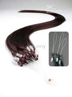Wholesale 2014 Brand New quot Straight Darkest Brown Micro Loop Ring Remy Human Hair Extensions g s s