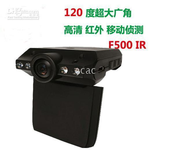 Wholesale F500 upgrade F500IR car driving recorder HD wide angle infrared night vision camera