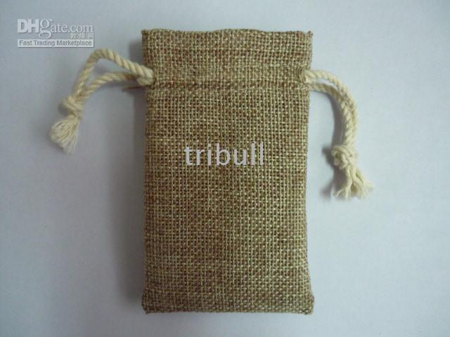 Wholesale jute jewellery pouch bag for wedding gifts