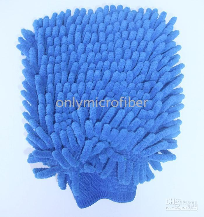 Wholesale 24 Big Both Side Microfiber Chenille car cleaning Mitt Car Wash Cleaning glove equipment Car detailing Cloths Home Duster cleaning