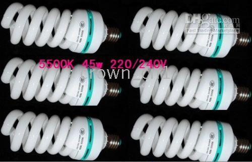 Wholesale 45W K Photography E27 Light Bulb Daylight x10
