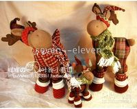 Wholesale lovely Christmas deer high quality handmade home decor gifts small size