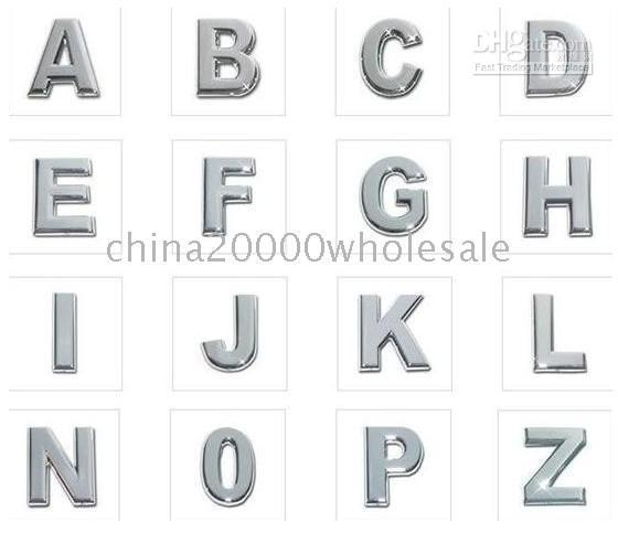 Wholesale 130pcs mm Chrome Slide letters Charm A Z DIY Accessorie Fit Pet Dog Cat Tag Collar or Phone Strips