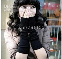 Wholesale woolen fingerless long gloves Aarm warm warmer