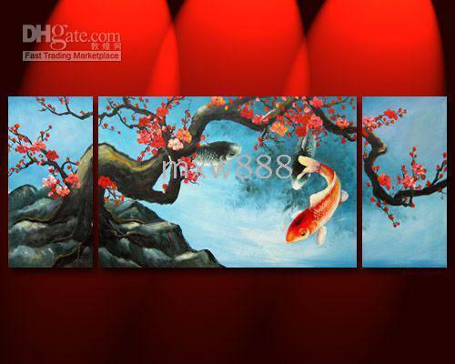 2017 feng shui painting japanese koi fish painting 130 for Japanese koi fish wholesale