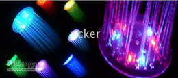 New fashion 7 Color Automatic Change LED Bathroom Shower 10pcs lot