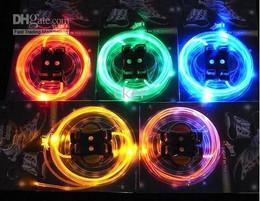 2012 new 100 pairs LED LIGHT UP SHOELACES DISCO FLASH LITE GLOW laser show wholesales