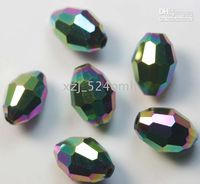 Wholesale OMH Chains amp Bracelets bead granular glass crystal beads colorful x6mm Free Ship