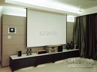 Wholesale 100 inch Electric remote control screen LCD HD Projector screen