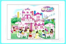 Great romantic restaurant scene play house toy Luban B0150