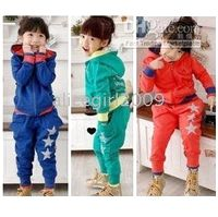 Wholesale toddler girls cute tracksuits suits jacket pants girl clothes sports wear
