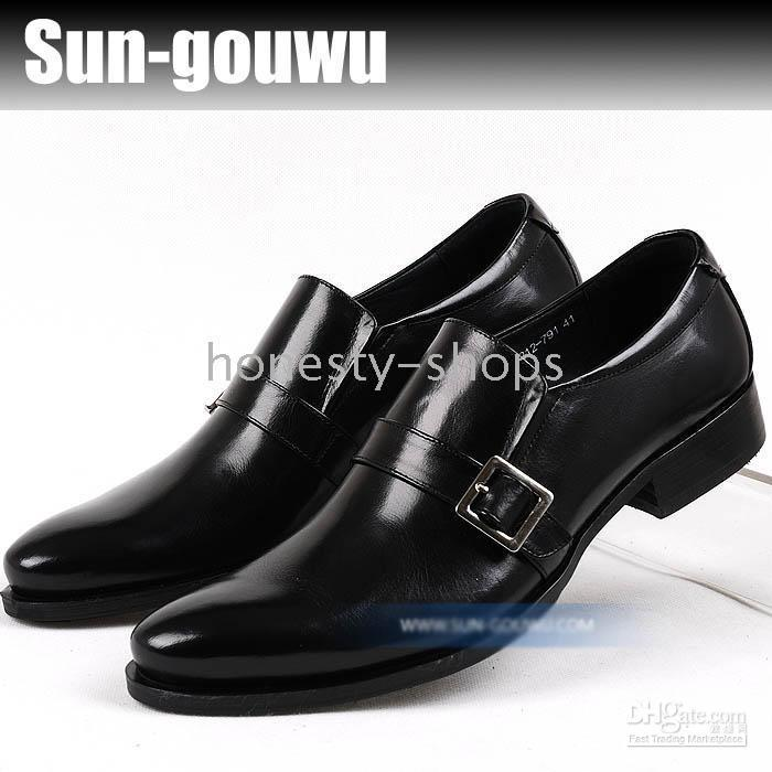 dgh - and elegant style set foot metal decorative black dress shoes men dgh