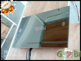 32'' Outdoor Waterproof Mirror TV Bathroom Digital LCD TV HDMI FreeView Advertising Silver Mirror TV