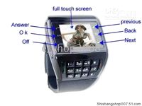 Wholesale AVATAR ET1 Quadband Touch Screen Watch Mobile Phone With Number Keypad Cellphone