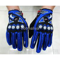 Wholesale PRO high level racing gloves Anti skid particles Full finger gloves Blue