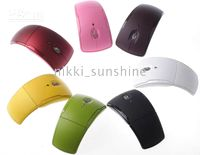 Wholesale NEW Wireless Folding Arc laser USB Mouse for PC Laptop Brand New GHz with vairous color