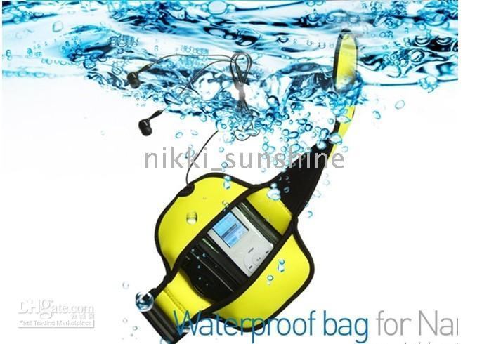Wholesale New waterproof bag with earphone for ipod nano th th waterproof dry bags cases for mp3 mp4