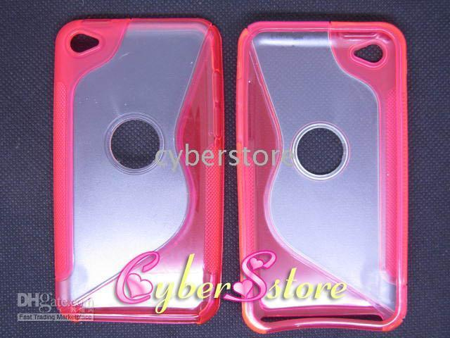 Wholesale 200pcs S line TPU Bumper Hard Back Skin Case Cover for iPod Touch G th