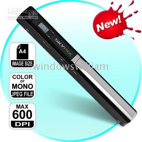 Wholesale 1pcs Handheld Scanner Portable Scanner TSN410 Handheld Scanners handy scan GB card christmas gift
