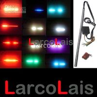 Wholesale 56cm LED RGB Knight Rider Grille Scanner Flash Strip Car Light Lights Remote Control LED