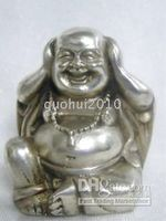 Wholesale Collectable tibet silver buddha figure ornament statue