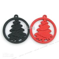 Wholesale Christmas Gifts Assorted Wooden Tree Pendants Fit Findinds