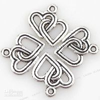 Wholesale Alloy Heart Charms Pendants Loop Metal Beads Christmas Ornaments Gifts Fit Jewelry