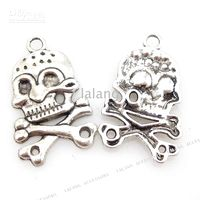 Wholesale Alloy Skull Charms Metal Pendants Loop Beads Christmas Ornaments Gifts