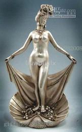 Wholesale Rare Tibet silver beautiful nude belle statue
