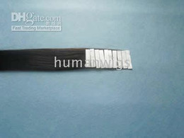 Wholesale Sample double sided tape hair extensions natural black color cm width inch