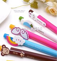 Wholesale Fashion Cute Lovely Cartoon animal Ballpoint Pens blue ink promotion product