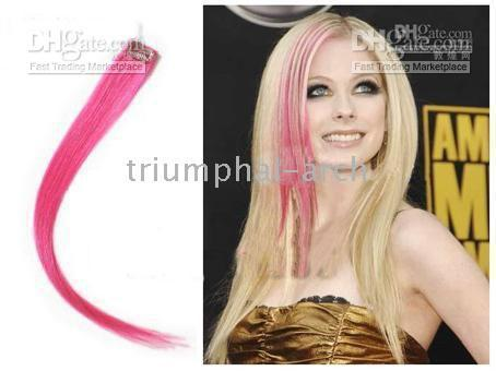 Wholesale 20 quot Highlight Single Clip in Hair extensions for Celebrity Hairstyle human hair red