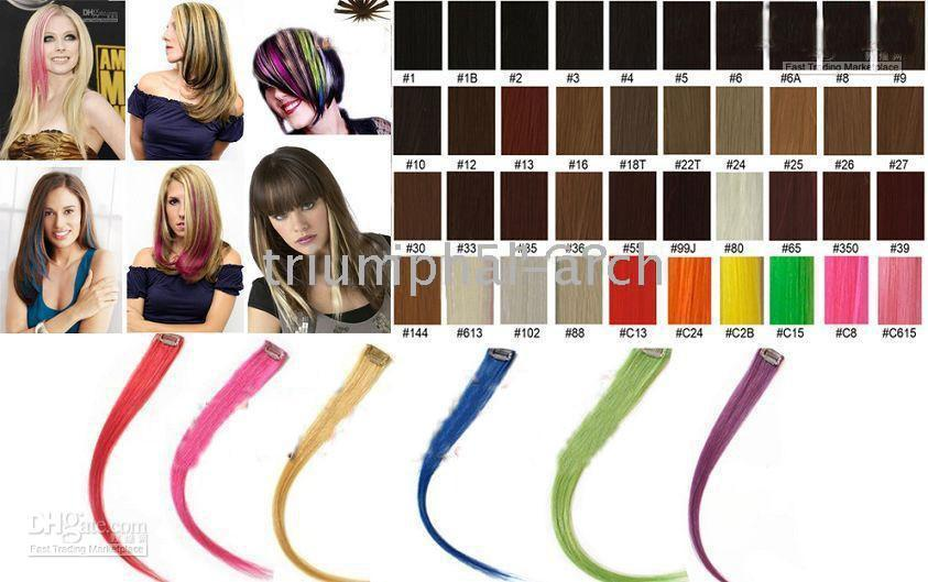 Wholesale 20 quot Highlight Single Clip in Hair extensions for Celebrity Hairstyle human hair