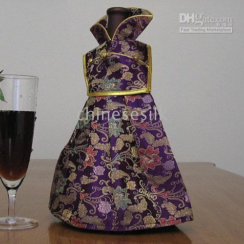 Wholesale Silk Fabric Wine Bags Bottle Packaging Bag Cheap Colorful Wine Bottle Accessories mix Free