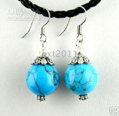 Wholesale Beautiful nice Tibet turquoise earring that ladies loving beautiful earrings