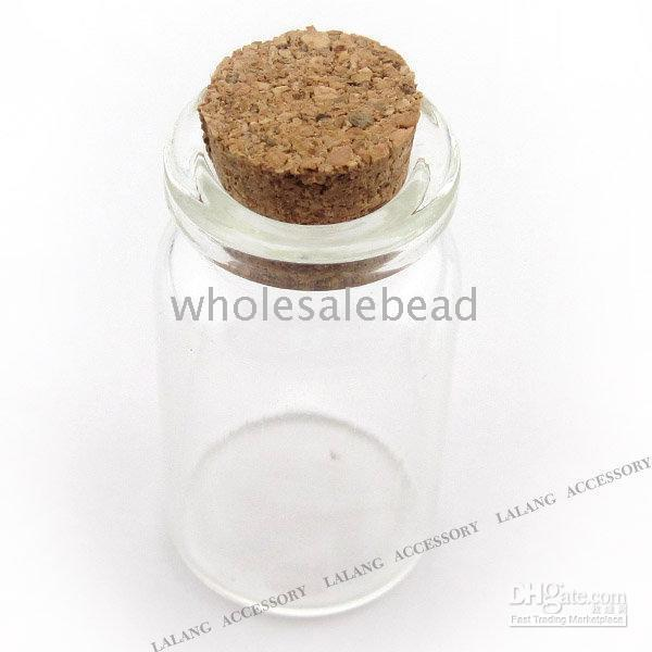 Cheap Glass Wishes Bottles With Wood Cork Fit Love Letter Messager Jewelry Finding 45mm 120301 80pcs lot