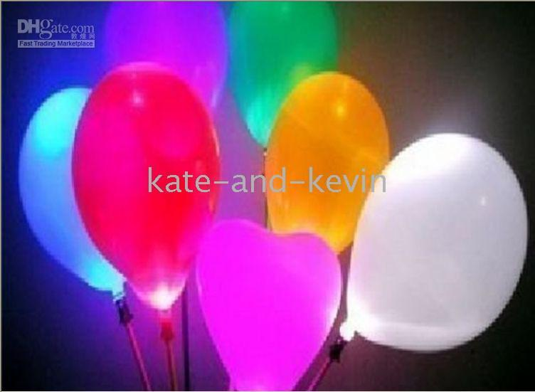 Cartoon led balloons - LED Balloon Blinking Flashing Light Led Wedding Party Christmas Holiday Birthday