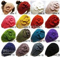 Wholesale 2010 hot sale Handmade knit winter Headband Flower headwrap Earband Headwear H001