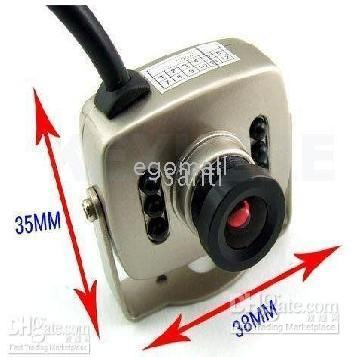 Indoor audio leds - Mini Cmos camera IR CCTV Color Video Audio with Leds mic security surveillace Freeship send gifts H1253