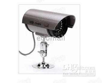 Wholesale Outdoor Fake Dummy Security Camera Red Led Light Flash Freeship