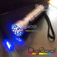 LED Flashlight   15 LED UV Ultra Violet Lamp Torch Flashlight Light new hot 200pcs