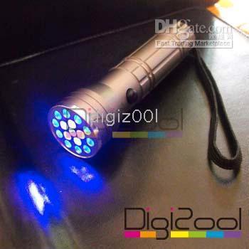 LED Flashlight   15 LED UV Ultra Violet Lamp Torch Flashlight Light new hot 200pcs