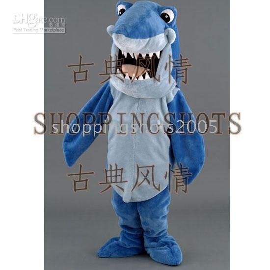 Wholesale Shark Cartoon adult MASCOT COSTUME R00129 Fancy Dress one size