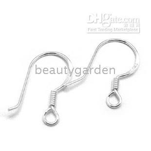 Wholesale 100pcs Sterling Stamped Silver Hook Earring Earwire Hook mm